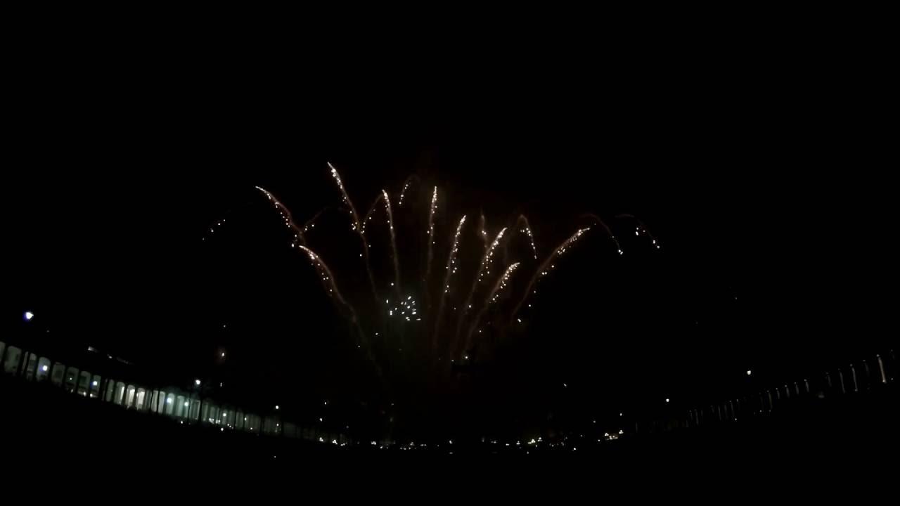 Silvester Feuerwerk Am Kurhaus Wiesbaden 20152016 Youtube