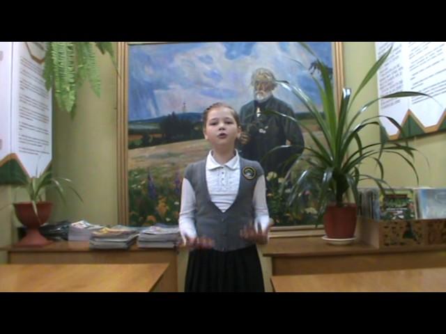 Изображение предпросмотра прочтения – ВарвараПолковникова читает произведение «Бородино» М.Ю.Лермонтова
