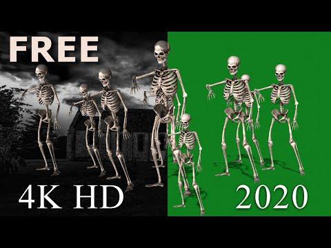 Skeleton Dance (01) 4K HD Green Screen