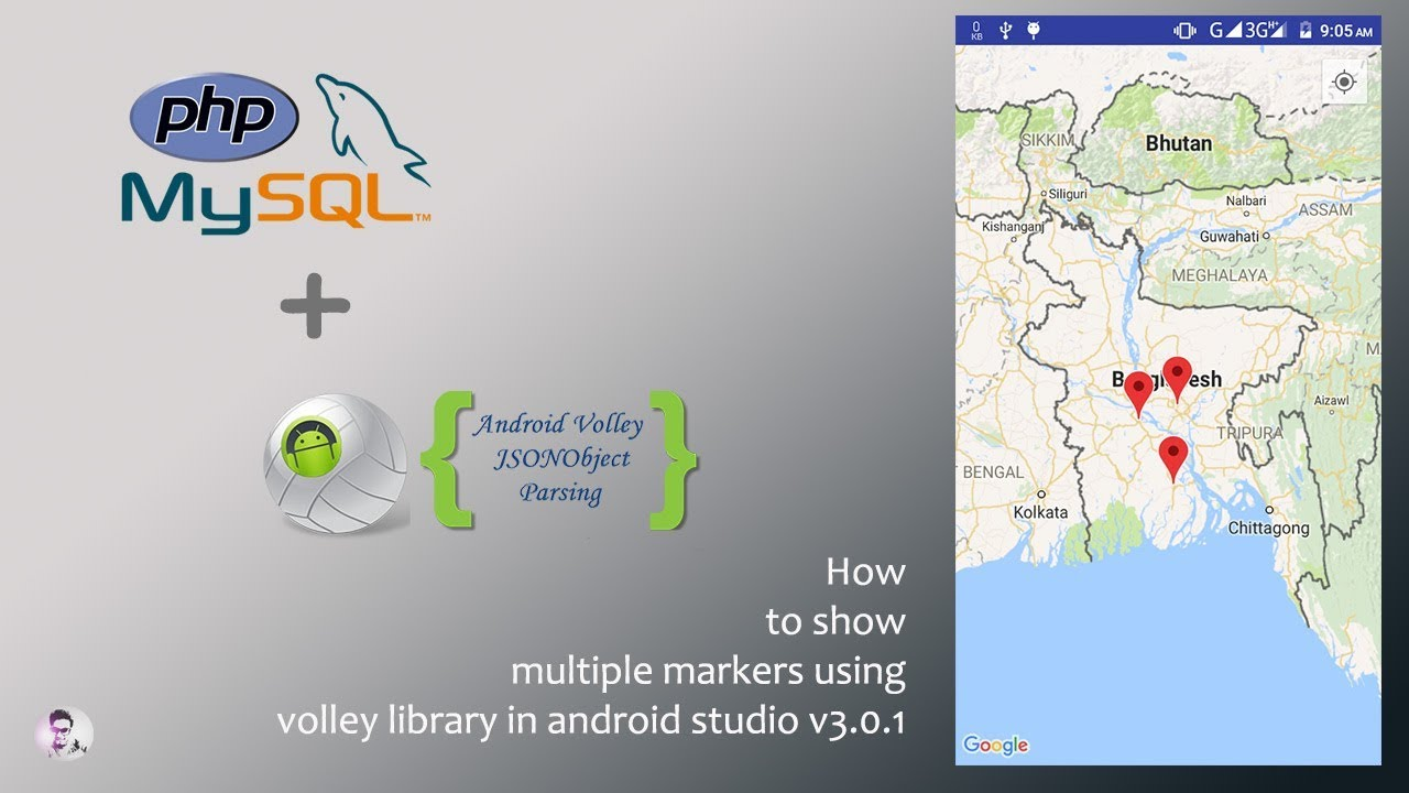 How to show multiple markers on google map using volley library in android  studio