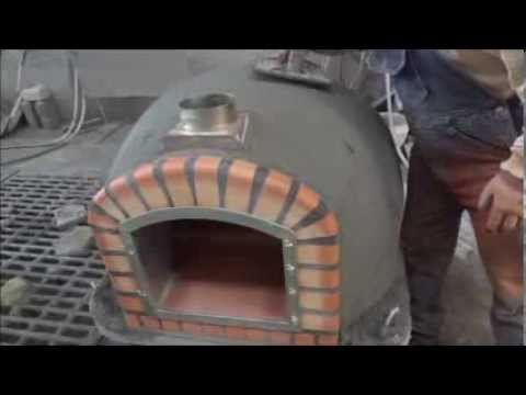 Wood Fired Brick Ovens Insulated With Rockwool Ch Youtube