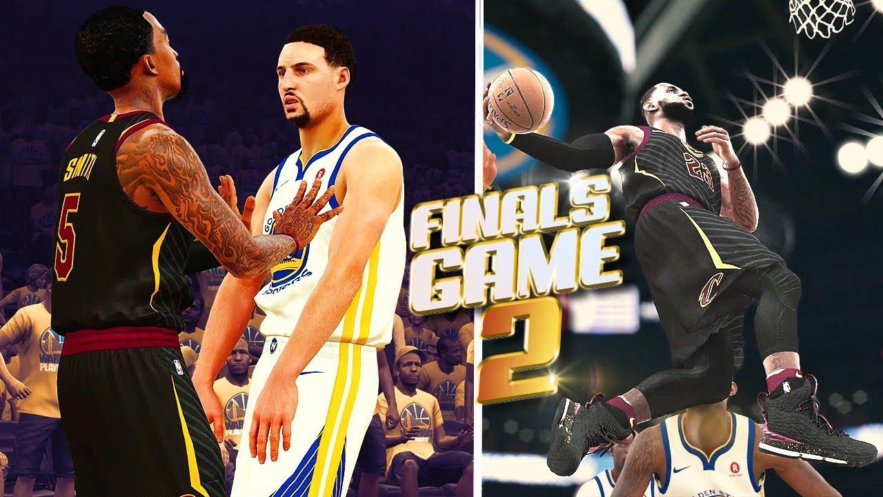 Cleveland Cavaliers vs Golden State Warriors Finals Game 2 - NBA 2K18 Predictions