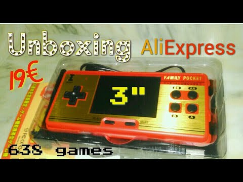 Unboxing Mini Consola Rs 20 A Famicom 8 Bits Family Pocket Nintendo