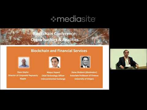 Ripple director of corporate payments Ryan Gaylor  at McCombs Blockchain Conference