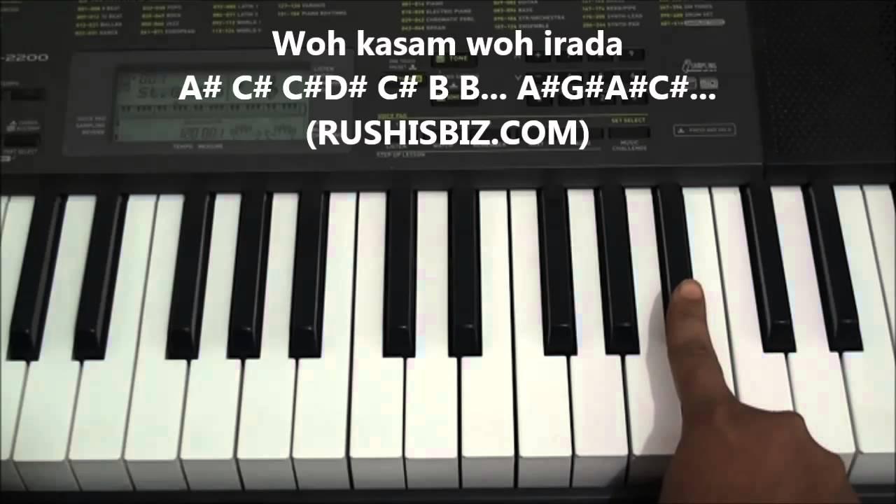 Kya Hua Tera Wada Piano Tutorials Notes 7013658813 Pdf Notes