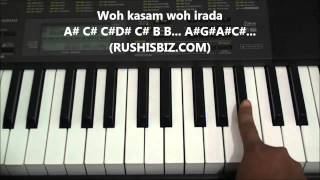 Kya Hua Tera Wada Piano Tutorials - Notes | 7013658813 - PDF NOTES/BOOK - WHATS APP US