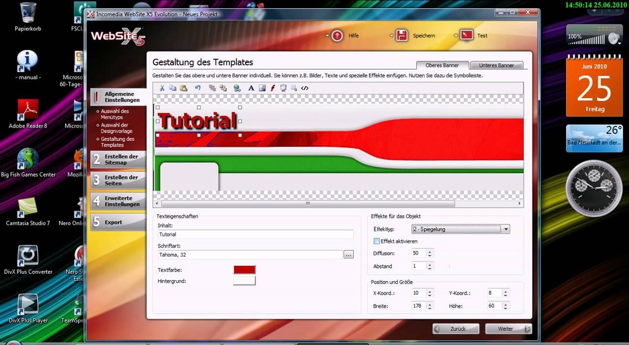 website x5 professional 16 tutorial