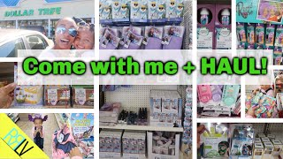 COME WITH ME TO DOLLAR TREE + HAUL! FIRST TIME HERE! NEW STORE!