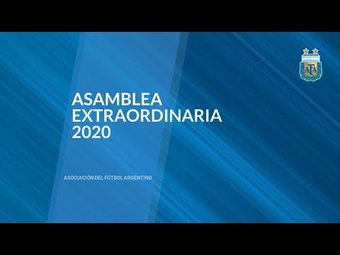 ASAMBLEA GENERAL EXTRAORDINARIA AFA 2020