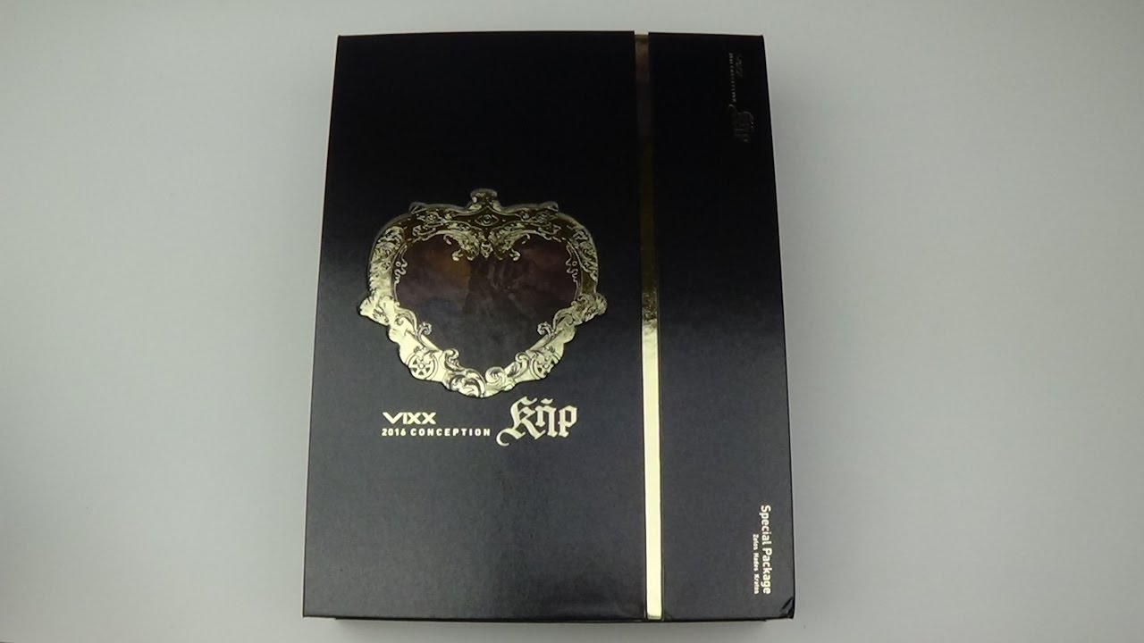 unboxing vixx 2016 conception ker special package album zelos hades kratos youtube