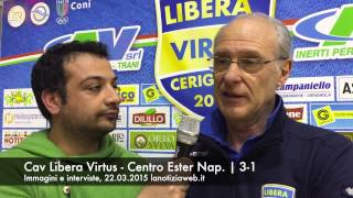 Interviste Cav Libera Virtus - Centro Ester Napoli 3-1, lanotiziaweb.it