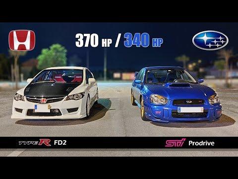 '06 Subaru Impreza STI PPP 🆚 '08 Honda Civic Type R FD2 🏁
