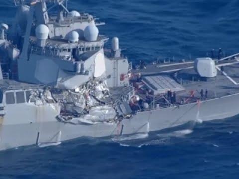 Raw: US Destroyer Damaged in Collision