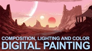 """Digital Painting Sketch - """"Desert Suns"""" - Composition, Lighting and Color"""