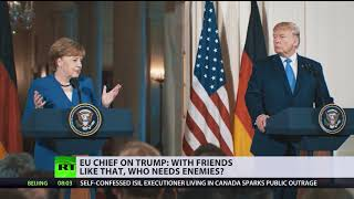 'With friends like that who needs enemies': Tusk lashes out at Trump