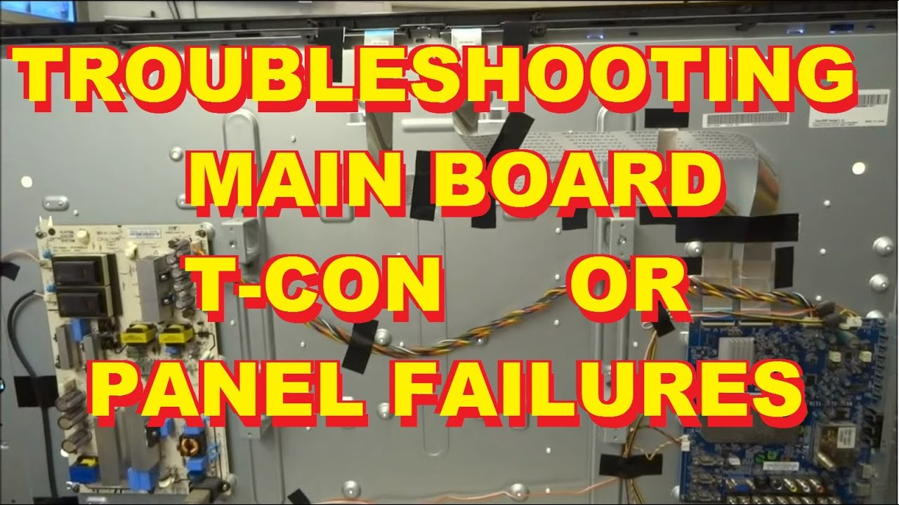 Troubleshooting Distorted Video TCon of LCD Panel TV