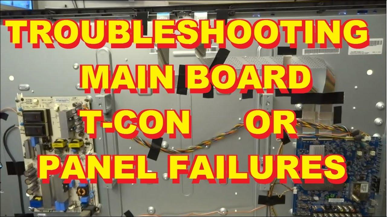 Troubleshooting Distorted Video TCon of LCD Panel TV Repair Vizio Sony Samsung LG Panasonic