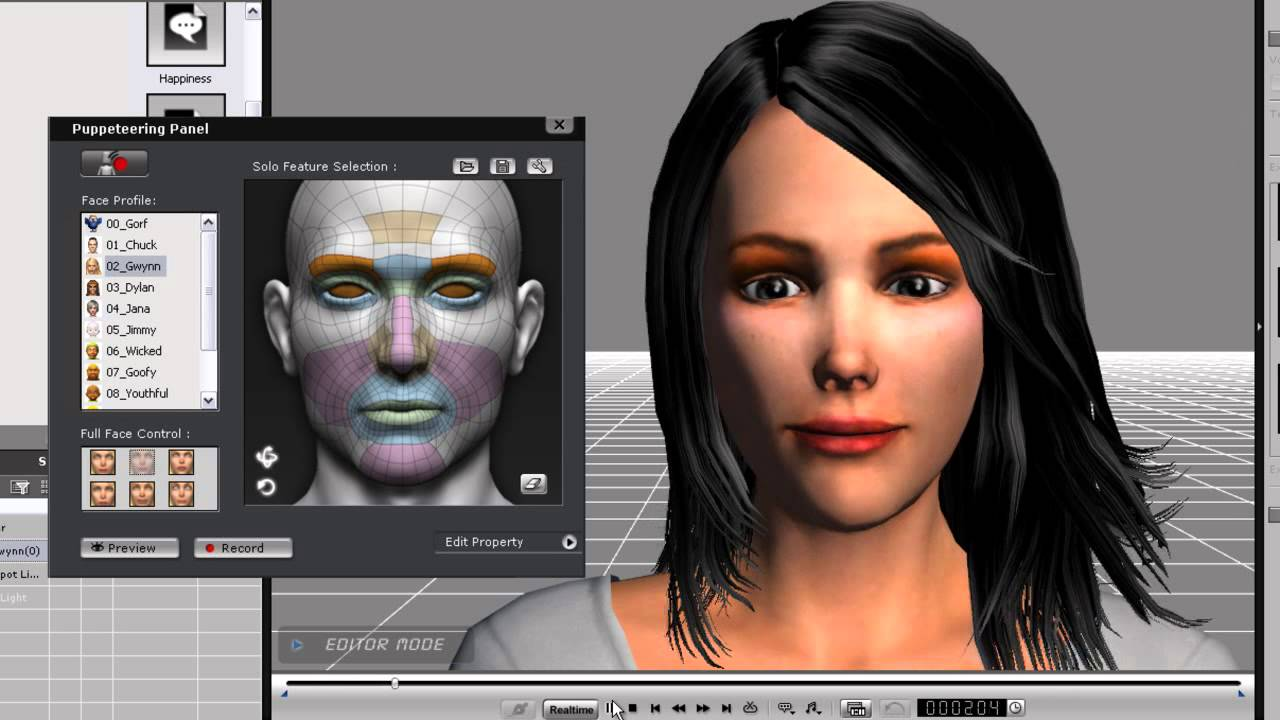 facial animation from