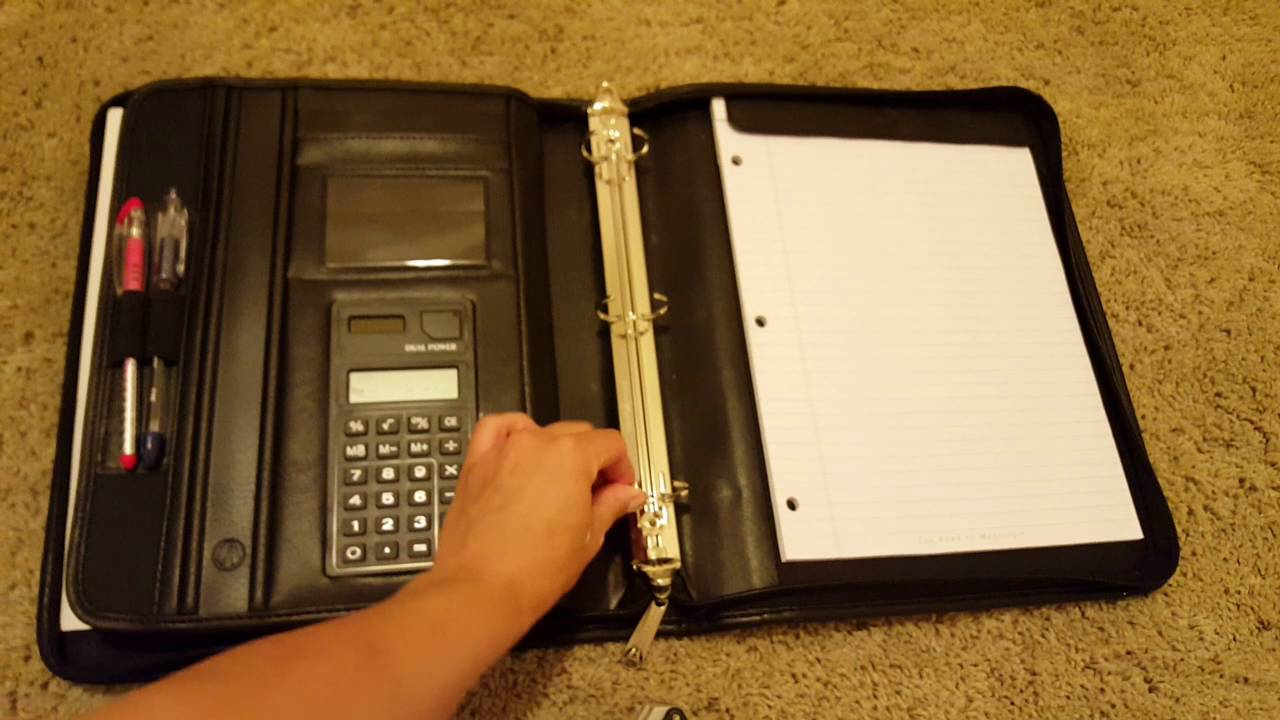 video review avenues professional binder padfolio with zippered closure