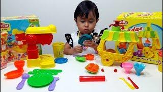 Mainan Anak Membuat Es Krim 💖 Fun Doh Ice Cream Factory & Sundae Cart 💖 Let's Play Jenica