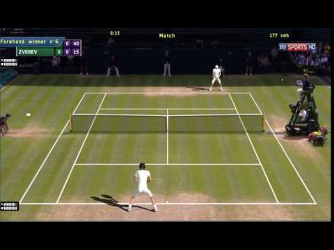 Wimbledon 2017 3R Roger Federer vs Mischa Zverev Tennis Elbow 2013