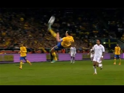 Best soccer goal ever - Zlatan Ibrahimovic Sweden vs England - Bicycle goals kick in HD