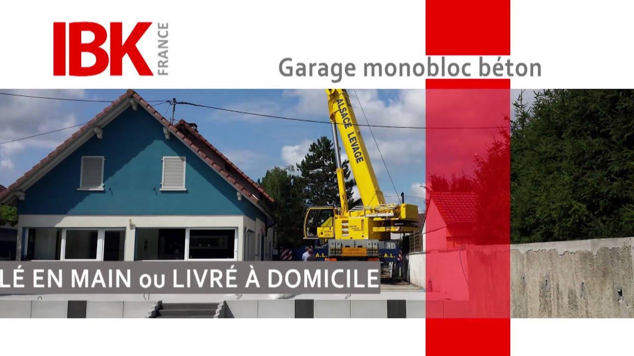 IBK Garage   Garage Préfabriqués En Monobloc Béton   Présentation