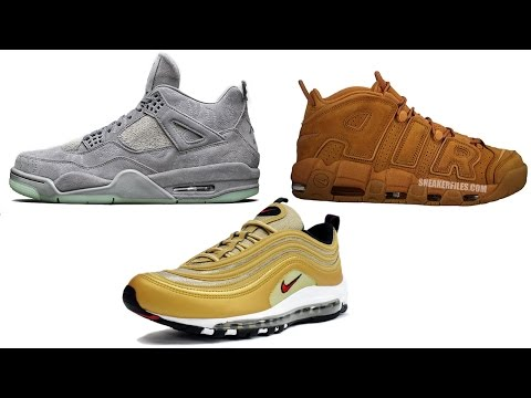 Where to Buy the Air Jordan 4 KAWS, Air More Uptempo Wheat, Air Max 97 Metallic Gold Info and More