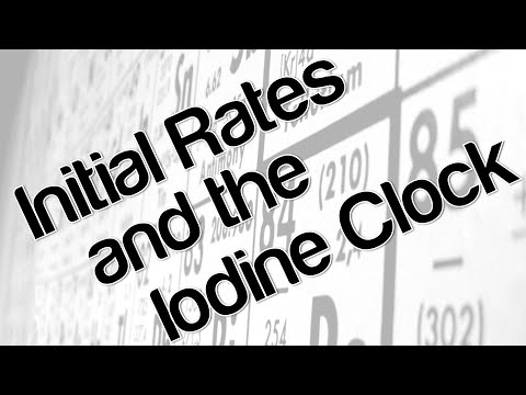 Initial rates and the iodine clock
