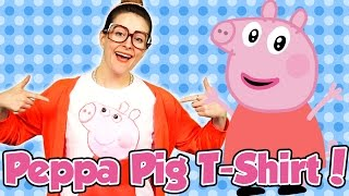 DIY Peppa Pig T-Shirt Craft with Crafty Carol | Cool School Arts and Crafts