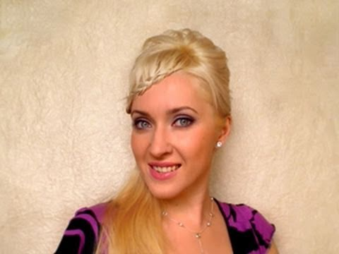 braided-bangs-hairstyles-tutorial-Прически-с-плетением-своими-руками