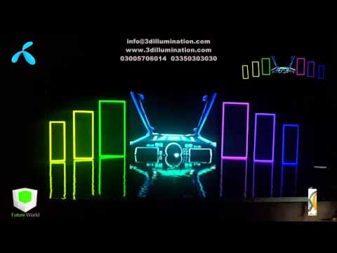 Stage Designs for 3D Projection Mapping - Telenor Pakistan