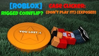 [Roblox] Case Clicker: RIGGED COINFLIP? (DON'T PLAY IT!) (EXPOSED)