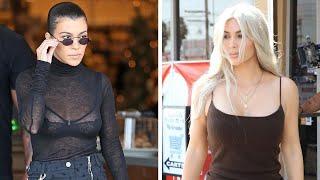 Kourtney Kardashian Rocks Sexy Sheer Outfit During Shopping Trip With Kim!