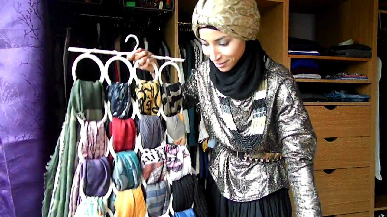 Rangement hijab how i store my scarves youtube - Comment ranger les foulards ...