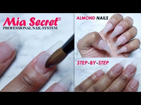 Almond Shaped Nail Tutorial With Mia Secret Acrylic