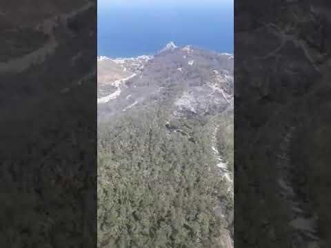 Así se ve desde el aire el incendio de Aranguren