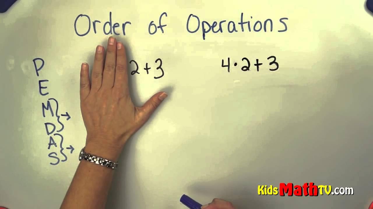 Order of Operations in pre - algebra ( PEMDAS ) Video Tutorial For ...