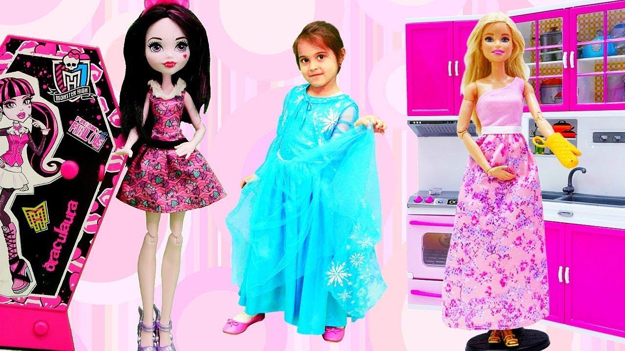 Барби и Монстер Хай Все серии. Видео для девочек - YouTube