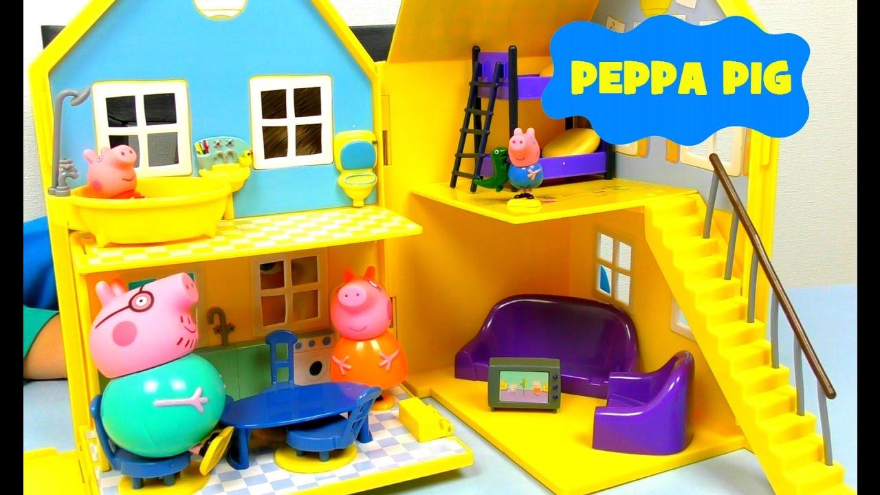 СВИНКА ПЕППА на русском  Дом Пеппы ЩЕНЯЧИЙ ПАТРУЛЬ Игрушки Peppa Pig PAW Patrol Игры