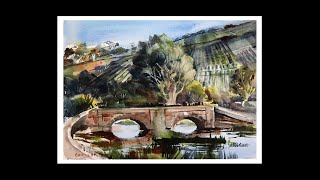 "Learn to Paint ""The Old Bridge"" step-by-step easy watercolour."