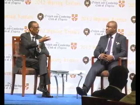 President Kagame gives Spring Lecture at Oxbridge Club- Lagos, 10 November 2012, Part 2/2