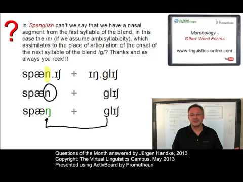 General Linguistics - Questions of the Month (May 2013)