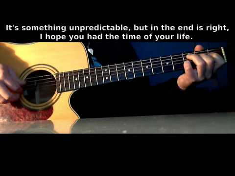 Green Day - Good Riddance (Time Of Your Life) [Guitar Karaoke/Instrumental] Lyrics on Screen (HD)