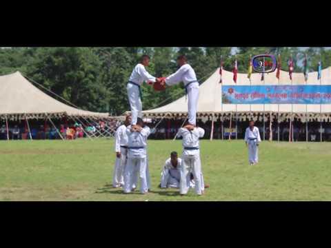 Nepal Army Taekwondo demonstration show in Pokhara, Nepal