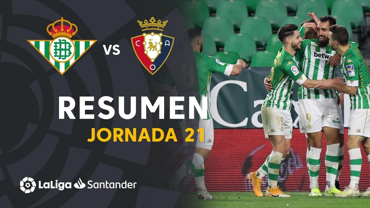 Resumen de Real Betis vs CA Osasuna (1-0)
