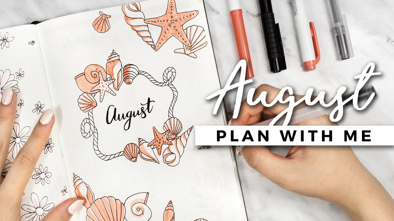 Plan With Me August 2017 Bullet Journal Setup Youtube
