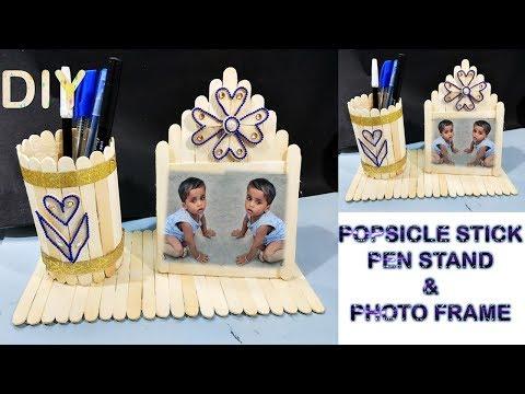 DIY Pen holder and Photo frame || DIY || ice cream stick craft ||