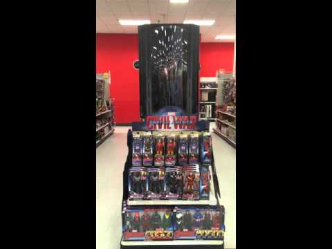 Target's Marvel Studios Captain America: Civil War Toy Aisle Display