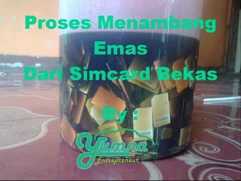 Daur Ulang Emas Dari Simcard Bekas ( gold recovery )